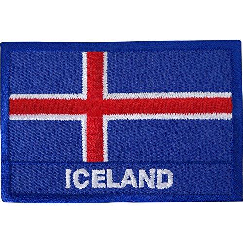 Island-Flagge, bestickt, zum Aufnähen oder Aufbügeln, Reykjavik