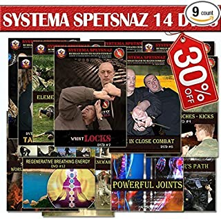 RUSSIAN MARTIAL ARTS DVDS – Russian Systema Spetsnaz Training 14 DVD set - Street Self-Defense Videos. Hand to Hand Combat Instructional DVD set to Learn Martial Arts at Home