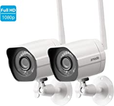 Zmodo 1080p Full HD Outdoor Wireless Security Camera System, 2 Pack Smart Home Indoor..