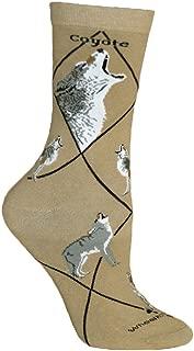 Coyote Khaki Novelty Adult 9-11 Socks by Wheel House Designs USA Made SKU PH 1721