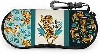 MODORSAN Tigre léopard motif accessoire de mode mince étui à lunettes étui à lunettes pour femme lumière Portable néoprène...