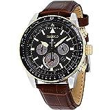 Seiko Prospex Black Dial Leather Strap Men's Watch SSC632