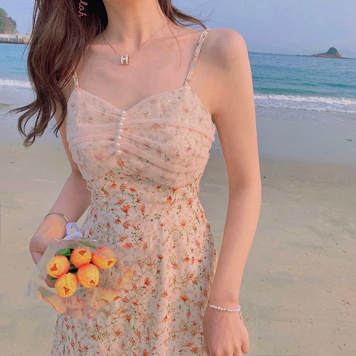Uongfi Wedding Dresses for Bride Elegant Strǎp Dress Women Ko