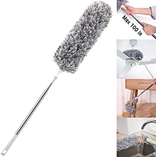 Improved Extra Long Microfiber Duster with Extension Pole (30 to 100 inches)..