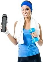 Sports Water Bottle, 35oz/1L Drinking Bottle - BPA Free - Flip Top Leak Proof - One Click Open for Outdoor & Gym Sport