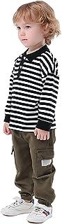 Little Boy's 2 Pcs Fall Long-Sleeve Stripe Polo Shirts +...