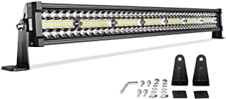 DWVO LED Light Bar 32 inch 390W Straight Triple Row 35000LM Upgrade Chipset Led Work Light for Off Road Driving Fog Lamp Marine Boating IP68 WATERPROOF Spot & Flood Combo Beam Light Bars
