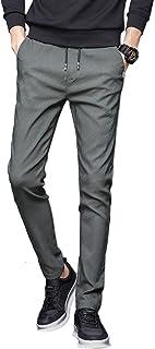 NEWHEY チノパン メンズ スキニーパンツ スーパーストレッチ スウェットズボン 細身デザイン 大きいサイズ 夏 秋 ブラック ネイビー グレー カーキ