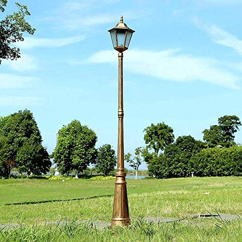 QULONG Luces de Poste al Aire Libre Luces de Calle clásicas Impermeables de una Sola Cabeza Luz de Calle de Poste Vintage para Patio Trasero Jardín Césped Camino de Entrada Camino de Entrada Frente