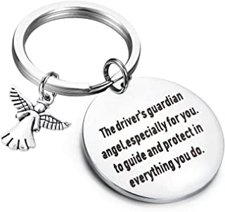 PLITI Guardian Angel Keychain New Driver Driving License Gift The Driver's Guardian Angel Especially for You to Guide and ...