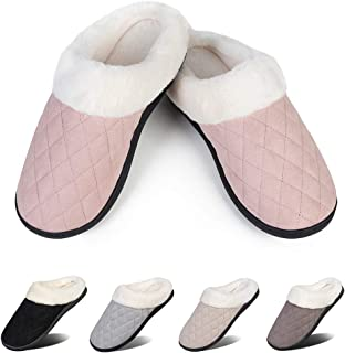 Slippers for Women Warm Memory Foam Slip on House Shoes Mens Cotton Comfortable Fleece Plush Cozy Home Bedroom Shoes Indoor & Outdoor