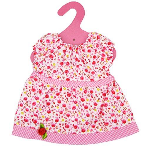 1x Süße Puppen Kleidung Kleider Puppen Outfit Puppen Dirndl für Puppen - Rosa, 20cm