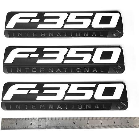 Black 2Pcs 4.8Inch F-350 Side Fender Emblem Badge 3D logo Replacement for F350