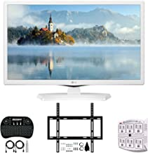"""$179 » LG 24LM520D-WU 24"""" HD TV Monitor (2019) + Deco Mount Slim Flat Wall Mount Ultimate Bundle + 2.4GHz Wireless Backlit Keyboard w/Touchpad Mouse + SurgePro 6-Outlet Surge Adapter w/Night Light"""