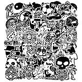 Modou Aufkleber [120 Stück], Schwarz Weiß Sticker Graffiti Vinyl Aufkleber für Laptop Autos Motorrad