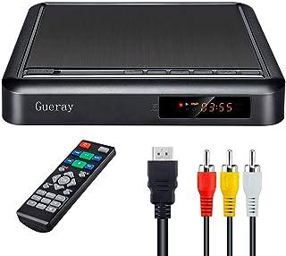 comprar comparacion Reproductor de DVD portátil Gueray con Escalamiento Full HD y Reproducción de Disco Duro Externo DVD-R / RW CD-R / RW Puer...