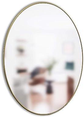 Umbra Hubba Wall Mirror, Brass, 34-Inch