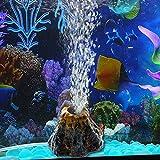Demiawaking Forma del Vulcano Pietra a Bolle d'aria Decorazione Acquario Ornamento del Serbatoio di Pesce della e Pompa di Ossigeno