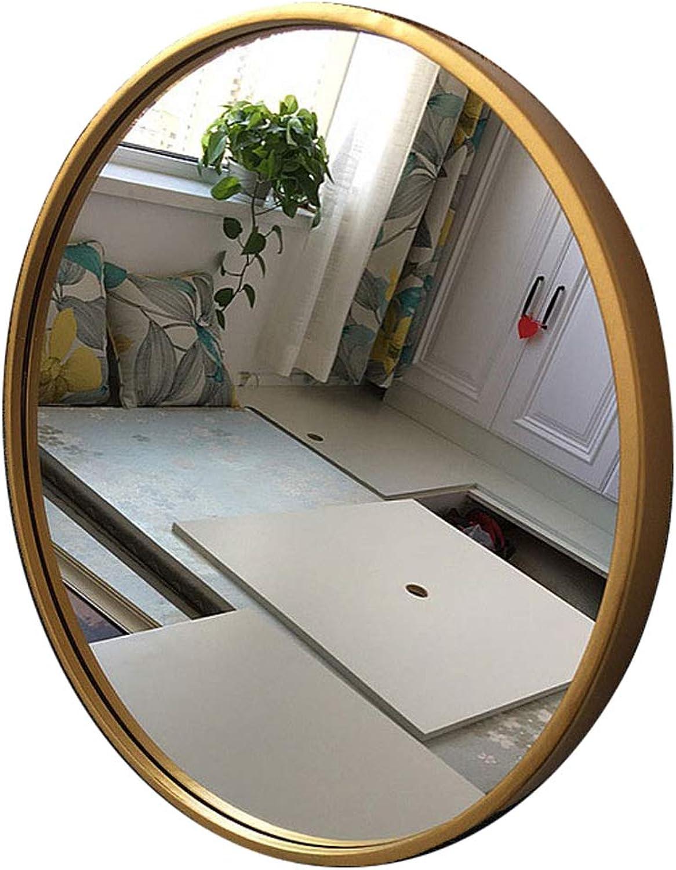 Round Bathroom Wall Mirror Circle gold Metal Frame Vanity Makeup Decorative Shaving Large Dressing Modern Living Room Entryways Bedroom (11.8 inch -31.5 inch)