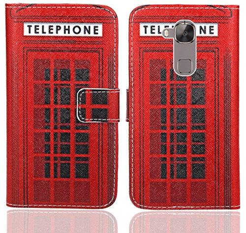 Huawei G8 / GX8 Handy Tasche, FoneExpert® Wallet Hülle Flip Cover Hüllen Etui Ledertasche Lederhülle Premium Schutzhülle für Huawei G8 / GX8 (Pattern 12)