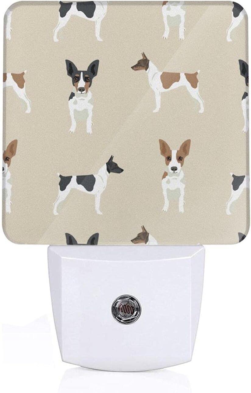 Rat Terrier Simple Dog Breed Tan Adu Nightlight LED Finally popular Bargain brand Anti Plug-in