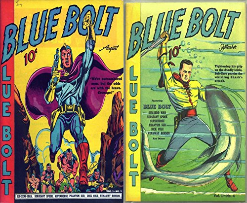 Blue Bolt. Issues 3 and 4. Includes Sub-zero man, seargent spook, phantom...