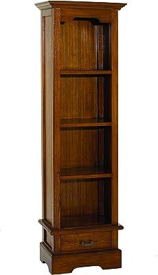 MACABANE Bibliothèque avec Tiroir, Bois, 33 x 54 x 180 cm