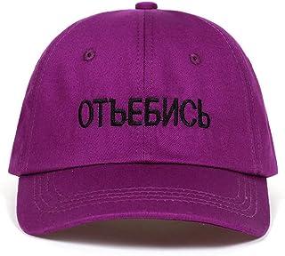 MKJNBH Russian Letter Very Hot Cap Cotton Baseball Cap Men Women Hip Hop Dad Hat Bone Garros
