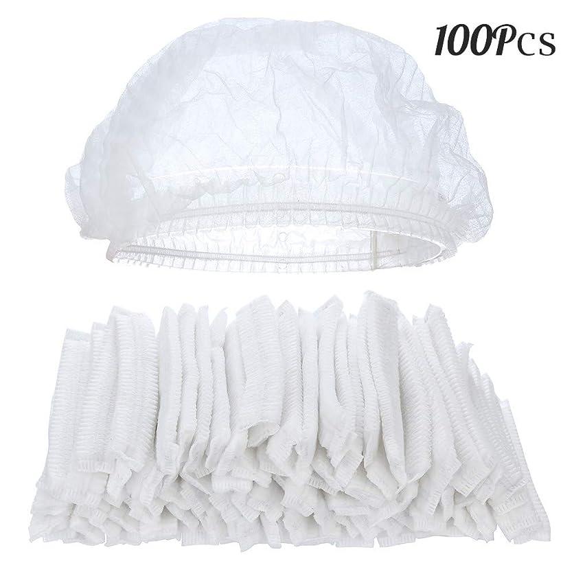 ぬいぐるみ気球助手100ピースクリア使い捨てプラスチックシャワーキャップ大きな弾性厚いバスキャップ用女性スパ、家庭用、ホテルおよび美容院