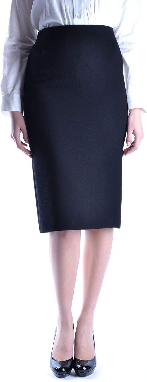 MIU MIU Women's MCBI13989 Black Wool Skirt