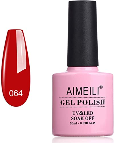 AIMEILI Soak Off UV LED Gel Nail Polish - Pillar Box Red (064) 10ml product image