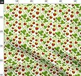 Erdbeeren, Niedlich, Weißer Hintergrund, Früchte, Sommer,