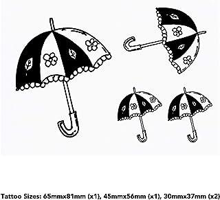 4 x 'Floral Umbrella' Temporary Tattoos (TO00035893)
