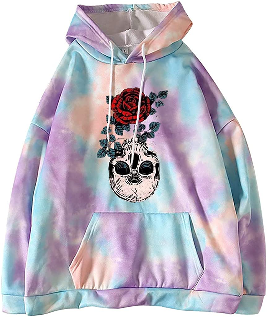 Toeava Hoodies for Women, Women's Fashion Hooded Blouse Casual Long Sleeve Pullover Tops Loose Sweatshirt with Pocket