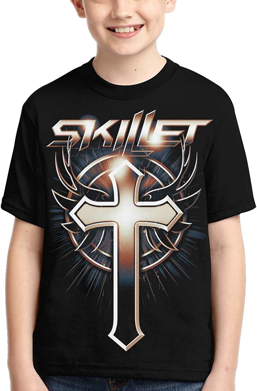FANPANHE Skillet Band Fashion 55% OFF Trend Sleeve Max 47% OFF Short Boy T-Shirt