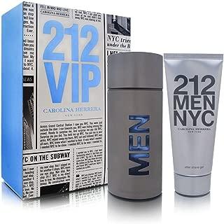 Carolina Herrera 212 For Men 2 Piece Set (3.4 Ounce Eau De Toilette Spray + 3.4 Ounce After Shave Gel), Combo 1