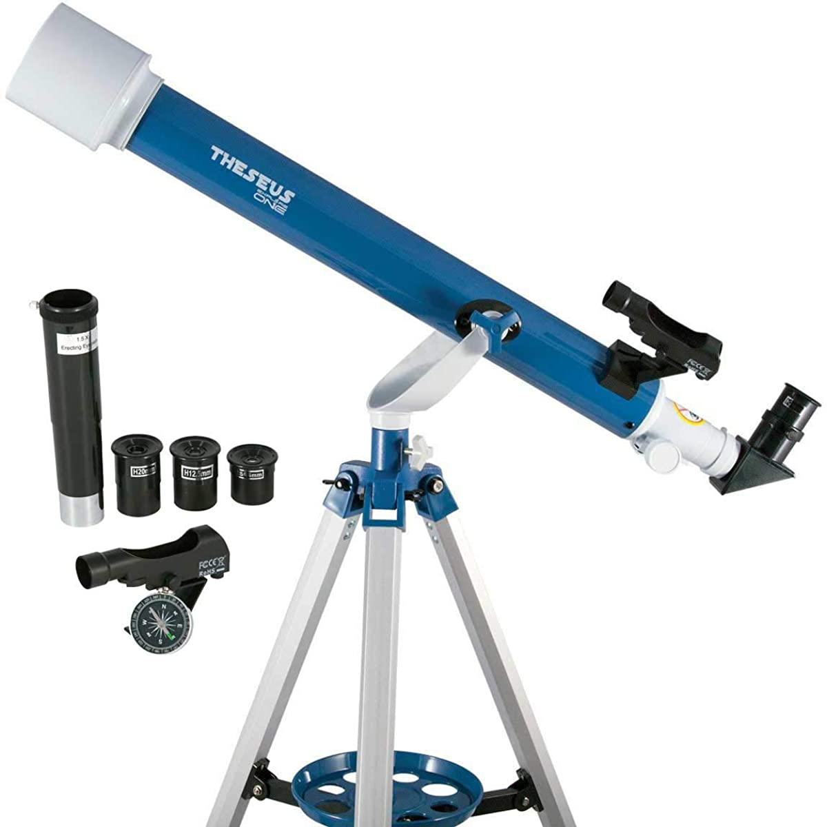 ExploreOne 60mm Telescope for Astronomy Beginners and Teens, Travel Scope with Adjustable Tripod & Finder Scope & Three Eyepieces & Barlow Lens & Moon Filter - with Carry Case Storage
