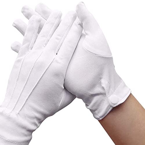 Captain Clown Magician Santa Halloween Fancy Dress CostumeR White Short Gloves