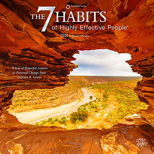 The 7 Habits of Highly Effective People 2021 12 x 12 Inch Monthly Square Wall Calendar with Foil Stamped Cover by StarGifts, Self Help Improvement