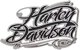 Harley-Davidson Women's Signature Script Belt Buckle, Polished Nickel HDWBU10968