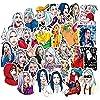 Glorwefy 人気歌手グッズ Billie Eilish ビリー・アイリッシュ スーツケースステッカー 防水シールステッカー 欧米風 フォトステッカー 漫画 ヘルメット かわいい ギター ノート スケートボード PVC パソコン 車 50枚セット