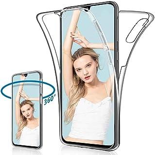XCYYOO Coque pour Samsung Galaxy A50 Transparent Intégrale Avant et Arrière 360 Degrés Étui de Protection,[Avant + Arrièr...