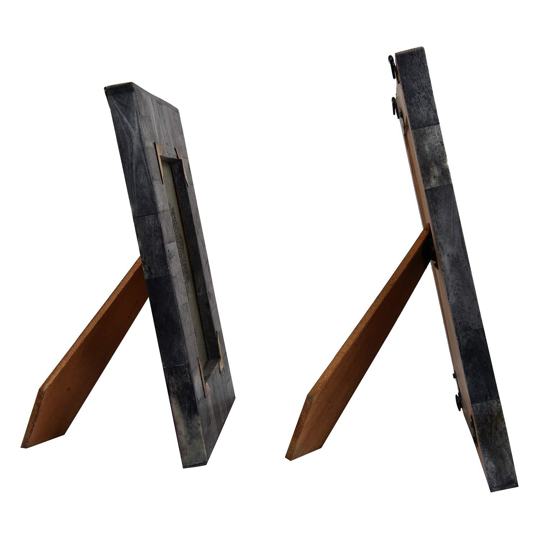 Twin Pack GAURI KOHLI Belvedere Gray Herringbone Picture Frames