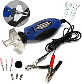 MOGOI 12V Handheld Chainsaw Sharpener Kit, Portable Wear Electric Saw Filing Chain Grinder for Garden Outdoor Grinding Machine Tool - Extra 3 Diamond Bits