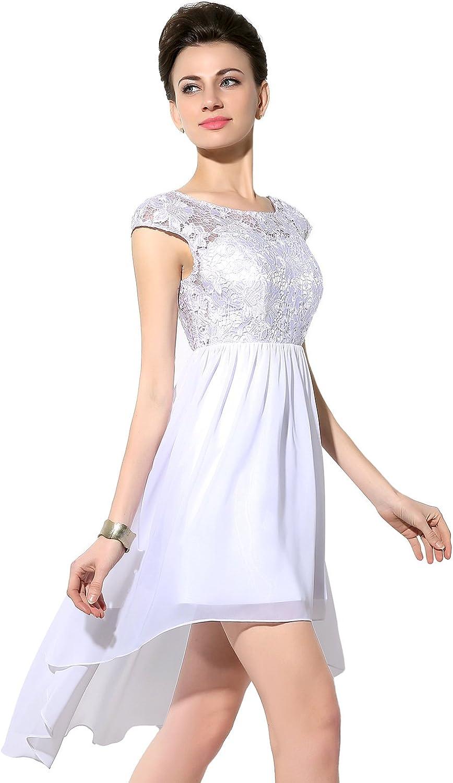 Belle House Women's Long Hi Lo Bridal Gown Strapless Organza Wedding Dresses HWM017