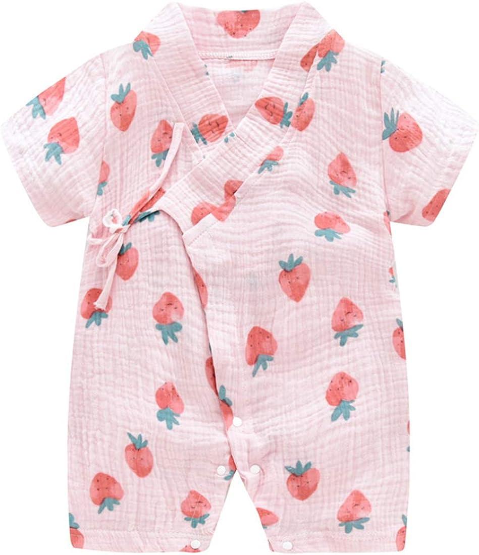 PAUBOLI Pyjama Japonais en Coton pour b/éb/é Confortable 3-24 Mois