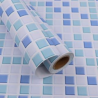 Hode Vinilo Decorativos Adhesivo para Azulejos Cocina 40X300cm Impermeable Papel Pintado Autoadhesivo Baño Cocina Azulejo (Azul)