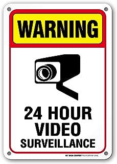 Under Video Surveillance Sign, CCTV Warning, Outdoor Rust-Free Metal, 7