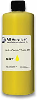 DTG Ink Yellow 1000ml Dupont Textile Ink for Direct to Garment Printers Ink (Yellow)
