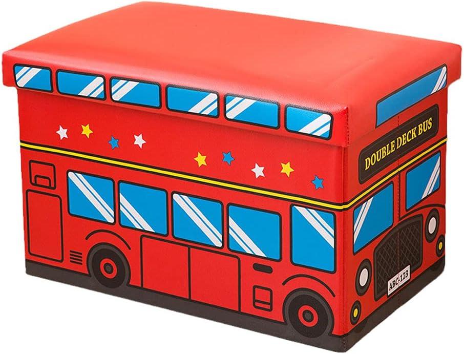 Yogafa Soldering Red car Storage Box Collapsible Kids Cheap bargain Folding Toy